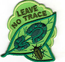 """LEAVE NO TRACE"" - CAMPING - FOREST - OUTDOORS - Iron On Embroidered Patch"