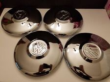 vw volkswagen 66 67 bug w slotted rims wheels chrome hubcaps set of 4 new type3