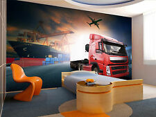 Container Truck Wall Mural Photo Wallpaper GIANT WALL DECOR Poster Free Paste