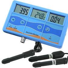 pH °F °C ORP EC TDS Mètre Compteur qualité de l'eau Testeur Thermomètre Aquarium