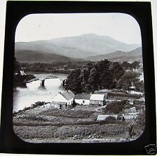 Magic Lantern Slide CALLANDER BRIDGE C1900 SCOTLAND