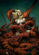 "SHANNA THE SHE DEVIL #7 ART PRINT By FRANK CHO 12""X18"""