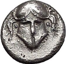 MESEMBRIA Thrace 400BC Crested CORINTHIAN Helmet Silver Ancient Coin i55472