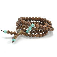 Sandalwood Buddhist Buddha Meditation Prayer Bead*108 Mala Bracelet Necklace