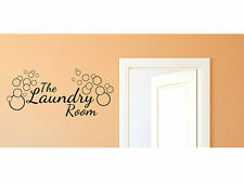 "Laundry Room Vinyl Wall Decal #3 Graphics Home Decor 33"" Tall"