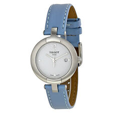 Tissot Pinky White Dial Blue Leather Ladies Watch T0842101601702