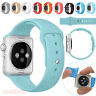 Sport Silicone Bracelet Band Replacement Strap Clasp For Apple Watch 38mm/42mm