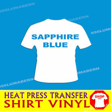 "1 roll 15"" SAPPHIRE Heat Press thermal transfer vinyl for T shirt (cotton+more"