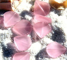 2 pcs~Sea Glass SMALL Clam Shell Pendant Beads -BLOSSOM PINK~ 19 X 21mm.