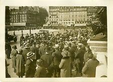 """""""ARRIVEE de 300 ALSACIENS à PARIS 1931"""" Photo originale G.DEVRED (Agce ROL)"""