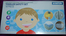 NEW 18 Piece Toddler baby proofing safety kit - Loo Plugs Doors Cupboard Corners
