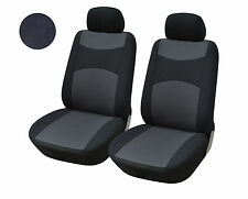 2 Front Bucket Fabric Car Seat Cover Compatible To Nissan 160 Black