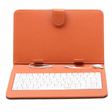 "Gridding 7"" Inch PU Leather Folio Keyboard Case Cover With Micro USB F 7"" Tablet"