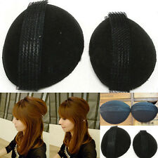 2Pcs Bump It Up Volume Sponge Hair Bun Maker Styling Piece Volumiser Big +Small