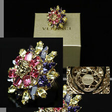 $475 GIANNI VERSACE Blooming MEDUSA RING w/ Price, Box & Tag (9.5)