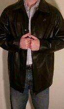 G A MILANO - LEATHER LONG JACKET -  NEW with tags - MEN'S XL