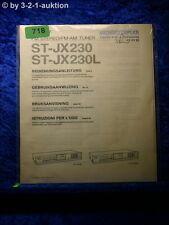 Sony Bedienungsanleitung ST JX230 / JX230L FM/AM Tuner  (#0718)