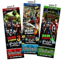 THE AVENGERS BIRTHDAY INVITATION PARTY TICKET CUSTOM PERSONALIZED INVITES - A2