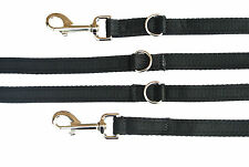 11ft Police Style Dog Training/Obedience Lead 20mm Cushioned Webbing In Black