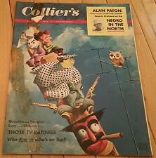 COLLIERS MAGAZINE OCTOBER 29 1954 GROUCHO DRAGNET LUCY GLEASON ALAN PATON