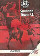 Football Programme - Swindon Town v Chester - Div 3 - 23/3/1976