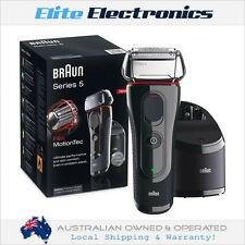 BRAUN 5050CC SERIES 5 MENS FLEX MOTIONTEC ELECTRIC SHAVER CLEAN & CHARGE STATION
