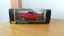 MAISTO SPECIAL EDITION RED MERCEDES-BENZ A-CLASS 1:18 ON STAND IN ORIGINAL BOX!