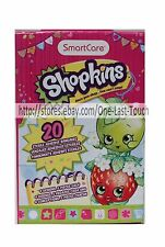 SHOPKINS 20pc Sterile ADHESIVE BANDAGES Assorted Designs SMART CARE For Kids NEW