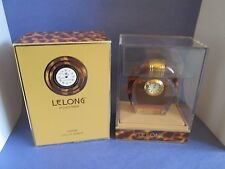 LeLong Pour Femme Pure Perfume Clock in Crystal Bottle 1 oz 30 ml Vintage RARE