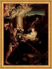 The Holy Night ahí antonio Correggio jesús ángel nacimiento Biblia Cristo B a3 00634