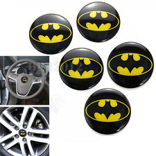 5x Car Tyre Rim Center Steering Wheel Hub Cap Decals Stickers Dark Knight Batman