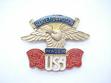 SALE RARE VINTAGE HARLEY DAVIDSON EAGLE MOTOR CYCLE MADE USA BIKER PIN BADGE 99p