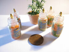 DOLLS HOUSE MINIATURE GLASS JAR WITH CARROTS AND PEAS VINTAGE STYLE