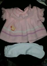 Cabbage Patch Kids vintage 2pc Pink  ducky dress+white  tights*KT *GUC*