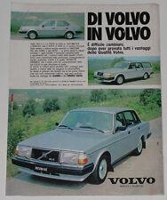 Advert Pubblicità 1982 VOLVO 240 / 340