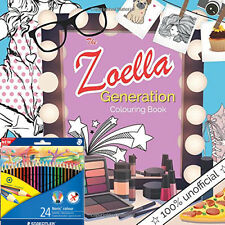 Christina Rose The Zoella Generation Colouring Book With Colouring Pencil NEW