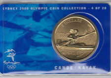 Coin Australia 2000 Olympic Games Sydney $5 proof issue Canoe or Kayak on card