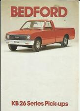 Bedford Ko 26 pick up truck camion brochure 1981 1982