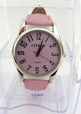 LADIES PINK WATCH AND STRAP WATCH BY CITRON (W10)