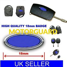 1 x REMOTE KEY FOB Case Logo Emblema Badge Adesivo Decalcomania 18 mm per FORD UK Venditore