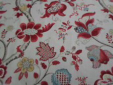 Sanderson Curtain Fabric ~ 'Roslyn' Berry/Slate 1.1 METRES 100% Linen Vintage