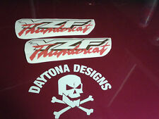 YZF THUNDERCAT GOLD & RED FAIRING PANEL PAIR CUSTOM DECALS STICKERS GRAPHICS