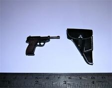DID 1/6th Scale WW2 German Officer's P38 Pistol & Leather Holster - Otto