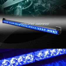 "31.5"" BLUE LED TRAFFIC ADVISOR EMERGENCY WARN FLASH STROBE LIGHT BAR UNIVERSAL 9"