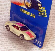 SPEED POINTS FERRARI 348 WHITE SPORTS CAR #175 HO HOT ONES BLUE CARD HOT WHEELS