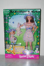 EASTER BUNNY FUN, BARBIE DOLL AND KELLY DOLL GIFT SET, MATTEL # 21720, 1998 NRFB