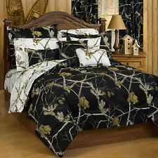 Realtree® AP Black / Snow Queen Camo All Purpose Comforter Set (Open Stock) 7pc