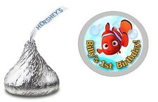 108 FINDING NEMO HERSHEY KISS KISSES LABELS STICKERS BIRTHDAY PARTY FAVORS