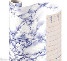 Blue Marble Self Adhesive Vinyl Contact Paper Shelf Drawer Liner Peel Stick