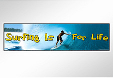 Surfing is for life.Surf photo on surfboard fun car bumper sticker for surfers